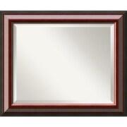 "Amanti Art 24 1/4"" x 20 1/4"" Cambridge Medium Wall Mirror, Black"