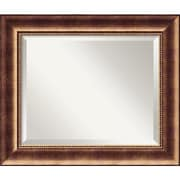 "Amanti Art 25 1/2"" x 21 1/2"" Manhattan Medium Wall Mirror, Burnished Bronze"