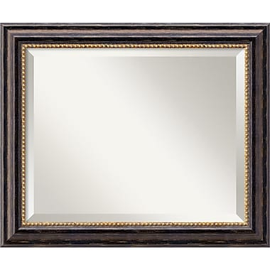 Amanti Art 24in. x 20in. Tuscan Medium Wall Mirror, Black