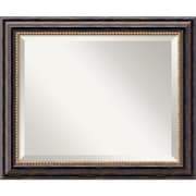 "Amanti Art 24"" x 20"" Tuscan Medium Wall Mirror, Black"