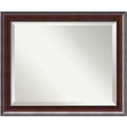 "Amanti Art 23.38"" x 19.38"" Country Medium Wall Mirror, Walnut"