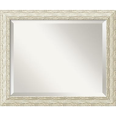 Amanti Art 23 1/2in. x 19 1/2in. Cape Cod Medium Wall Mirror, Distressed Whitewash