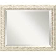 "Amanti Art 23 1/2"" x 19 1/2"" Cape Cod Medium Wall Mirror, Distressed Whitewash"