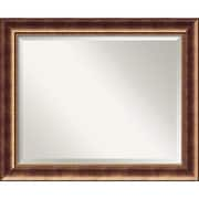 "Amanti Art 33 1/2"" x 27 1/2"" Manhattan Large Wall Mirror, Burnished Bronze"