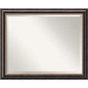 Amanti Art 32 x 26 Tuscan Large Wall Mirror, Black