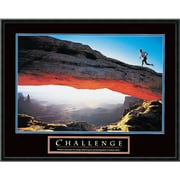 "Amanti Art ""Challenge: Runner"" Framed Print Art, 23"" x 29"""
