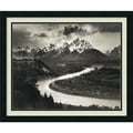 Amanti Art Ansel in.The Tetons and the Snake River, Grand Teton N...in. Framed Print Art, 22in. x 26in.