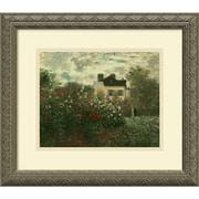 Amanti Art Monet The Artist's Garden at Argenteuil, 1873 Framed Art, 14.12 x 16.12