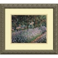 Amanti Art Claude Monet in.Jardin a Giverny (Garden at Giverny)in. Framed Art, 14.12in. x 16.12in.