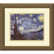 "Amanti Art Vincent Van Gogh ""The Starry Night"" Framed Print Art, 14.12"" x 16.12"""