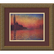 "Amanti Art Claude Monet ""Dusk, Sunset in Venice, 1908"" Framed Art, 14.12"" x 16.12"""