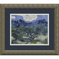 Amanti Art Van Gogh in.Olive Trees With the Alpilles in the Background, Saint-Remy 1889in. Framed Art