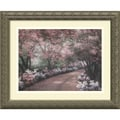 Amanti Art Diane Romanello in.Azalea Walkin. Framed Print Art, 14.12in. x 17.12in.
