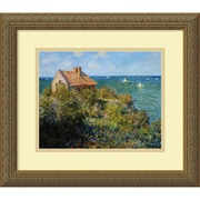 "Amanti Art Monet ""Fisherman's Cottage on the Cliffs at Varengeville.."" Framed Art, 14.12"" x 16.12"""