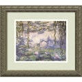 Amanti Art Claude Monet in.Water Lilies and Willow Branchesin. Framed Art, 14.12in. x 16.12in.