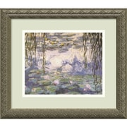 "Amanti Art Claude Monet ""Water Lilies and Willow Branches"" Framed Art, 14.12"" x 16.12"""