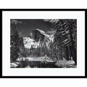 "Amanti Art Ansel ""Half Dome, Winter - Yosemite National Park, 1938"" Framed Print Art, 23"" x 29"""