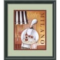 Amanti Art Jo Parry in.Cafe Milanoin. Framed Print Art, 15 1/2in. x 13 1/2in.