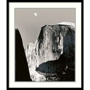 "Amanti Art Ansel Adams ""Moon Over Half Dome"" Framed Print Art, 31.38"" x 26.88"""