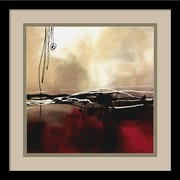 "Amanti Art Laurie Maitland ""Symphony in Red and Khaki I"" Framed Art, 15.38"" x 15.38"""