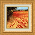 Amanti Art Steve Thoms in.Field of Red and Goldin. Framed Print Art, 19.25in. x 19.62in.