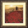 Amanti Art Steve Thoms in.Poppy Fieldin. Framed Print Art, 17.88in. x 17.88in.