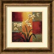 "Amanti Art Jill Deveraux ""White Orchid"" Framed Art, 16 3/4"" x 16 3/4"""