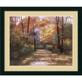 Amanti Art Diane Romanello in.Autumn Roadin. Framed Print Art, 28.88in. x 34.88in.