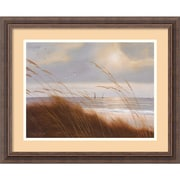 "Amanti Art Diane Romanello ""Sailboat Breezeway"" Framed Print Art, 18 1/4"" x 22 1/4"""