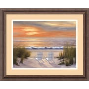 "Amanti Art Diane Romanello ""Paradise Sunset"" Framed Print Art, 18 1/4"" x 22 1/4"""