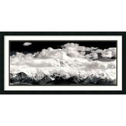 "Amanti Art Ansel ""Mount McKinley Range, Clouds, Denali Nat..."" Framed Print Art, 19.38"" x 38.75"""
