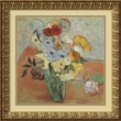 Amanti Art Vincent Van Gogh in.Roses and Anemonesin. Framed Print Art, 21.88in. x 21.88in.