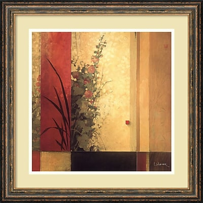 """""Amanti Art Don Li-Leger """"""""Hollyhock Garden"""""""" Framed Art, 21.38"""""""" x 21.38"""""""""""""" 966992"