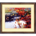 Amanti Art Tadashi Asoma in.Afternoon Calmin. Framed Print Art, 17.88in. x 21.88in.