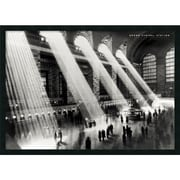 "Amanti Art Hulton ""Grand Central Station, New York, 1934"" Framed Print Art, 25.38"" x 37.38"""