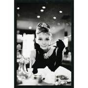"Amanti Art ""Audrey Hepburn-Breakfast at Tiffany's"" Framed Print Art, 37.38"" x 25.38"""