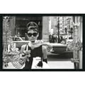 Amanti Art in.Audrey Hepburn, Breakfast at Tiffany's (Window)in. Framed Print Art, 25.38in. x 37.38in.