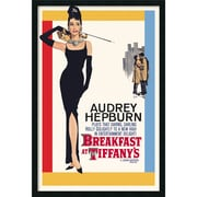 "Amanti Art ""Audrey Hepburn - Breakfast at Tiffany's"" Framed Print Art, 37.38"" x 25.38"""