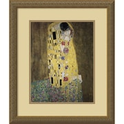 "Amanti Art Gustav Klimt ""The Kiss (Le Baiser/Il Baccio), 1907"" Framed Print Art, 21.12"" x 18.12"""