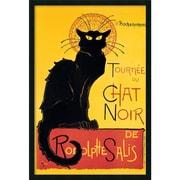 """Amanti Art Alexandre Steinlen """"Tournee du Chat Noir(Yellow)"""" Framed Print Art, 37.38"""" x 25.38"""""""