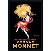 "Amanti Art Leonetto Cappiello ""Cognac Monnet(ca. 1927)"" Framed Print Art, 37.38"" x 25.38"""