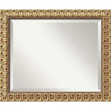 Amanti Art 23 1/2in. x 19 1/2in. Florentine Medium Wall Mirror, Antique Gold