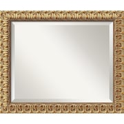 "Amanti Art 23 1/2"" x 19 1/2"" Florentine Medium Wall Mirror, Antique Gold"