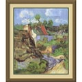 Amanti Art Vincent Van Gogh in.Houses at Auvers, 1890in. Framed Print Art, 30.12in. x 26.12in.