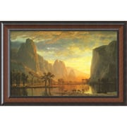 "Amanti Art Albert Bierstadt ""Valley of the Yosemite, 1864"" Framed Print Art, 22"" x 32 3/4"""
