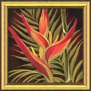 Amanti Art Yvette St. Amant Birds of Paradise I Framed Canvas Art, 28.62 x 28.62