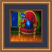 "Amanti Art Will Rafuse ""Virgil"" Framed Animal Art, 14"" x 14"""