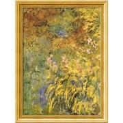 "Amanti Art Claude Monet ""Irises"" Framed Art, 32.38"" x 24.38"""