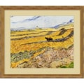 Amanti Art Vincent Van Gogh in.Enclosed Field With Ploughmanin. Framed Print Art, 26 1/2in. x 30 1/2in.