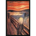 Amanti Art Edvard Munch in.The Scream, 1893in. Framed Art, 37.38in. x 25.38in.